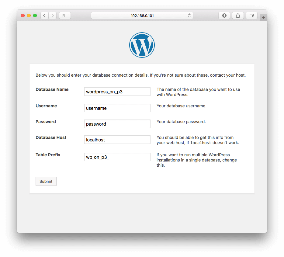 wordpress-database-connection