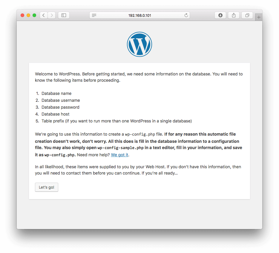 wordpress-setup-page