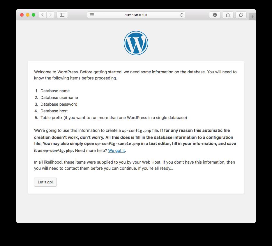 wordpress-setup-page