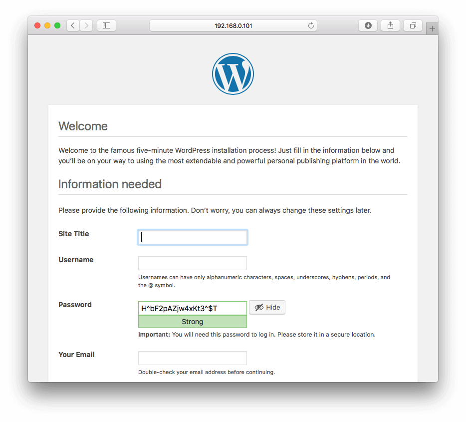 wordpress-welcome-page