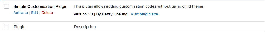 Create your own customisation plugin