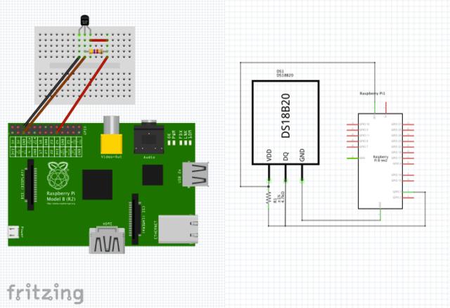 DS18B20 temperature sensor data logger – E-Tinkers