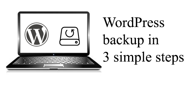 wordpress backup in 3 simple steps