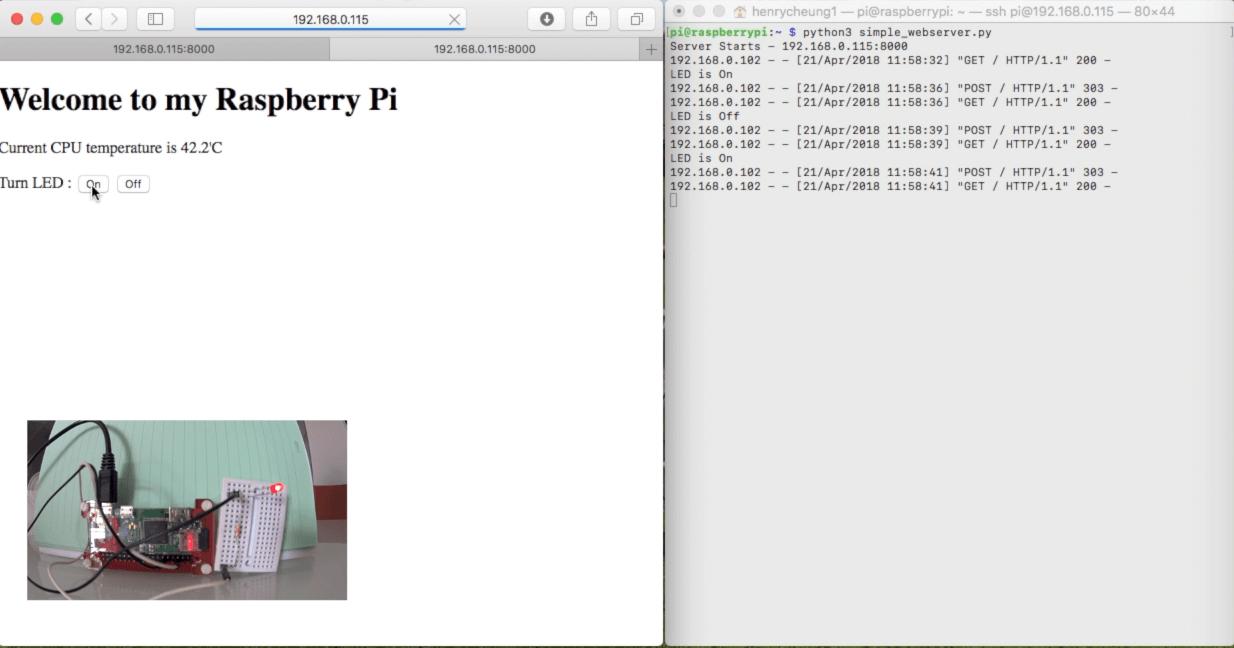 control RPi GPIO via http server