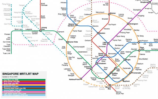 SMRT system map
