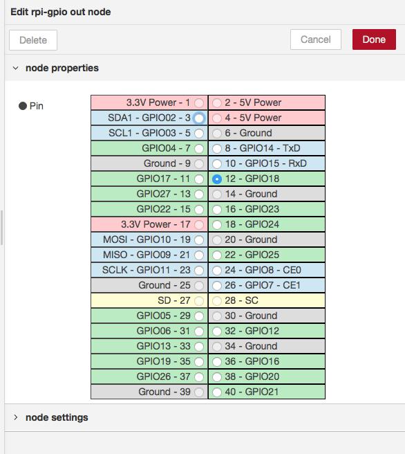 configure rpi gpio node