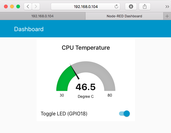 simple gpio dashboard