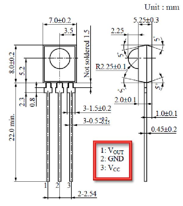IR receiver PNA4602 pinout