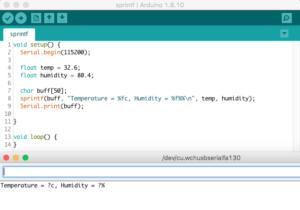 sprint result on arduino IDE