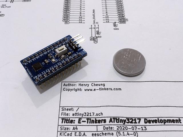 E-tinkers ATtiny3217 Arduino Development Board